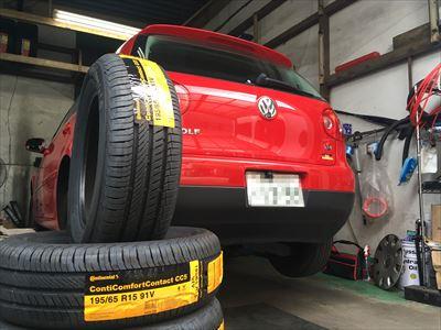 VWゴルフ5タイヤ交換