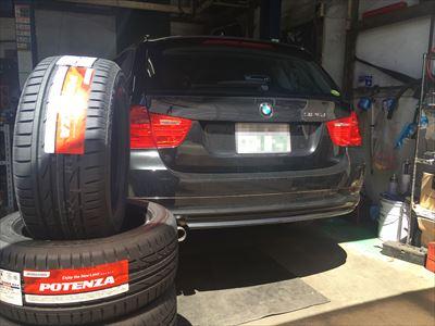 BMW 3シリーズ ランフラットタイヤ交換