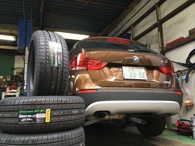BMW X1ランフラットタイヤ交換