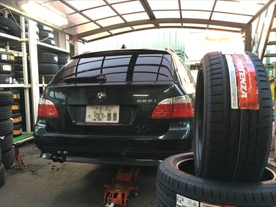 BMW 5シリーズ ランフラットタイヤ交換