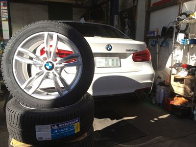 BMWスタッドレスタイヤホイールセット