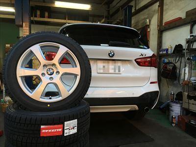 BMW X1 ランフラット スタッドレス