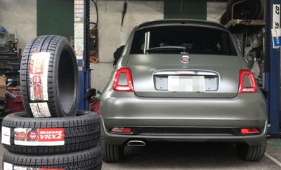 FIAT500 スタッドレスタイヤ